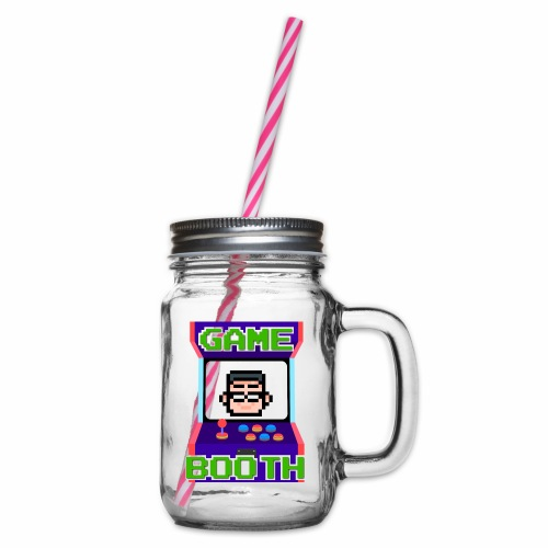 GameBooth Icon Logo - Glass jar with handle and screw cap
