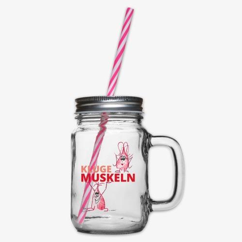 Kluge Muskeln - Henkelglas mit Schraubdeckel