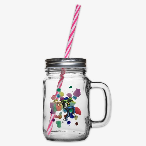Dancer - Glass jar with handle and screw cap