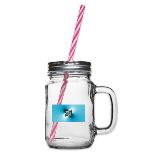 Fractal 4 - Glass jar with handle and screw cap