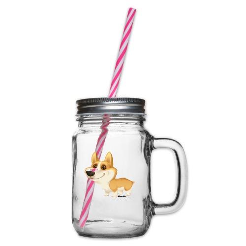 Corgi - Glass med hank og skrulokk