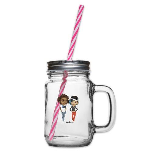 Maya & Noa - Henkelglas mit Schraubdeckel