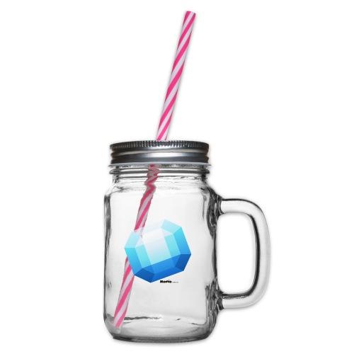 Safir - Glass med hank og skrulokk