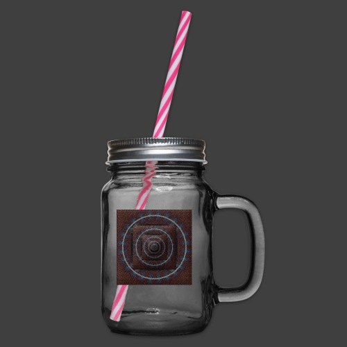Time Tunnel Brown - Glass jar with handle and screw cap