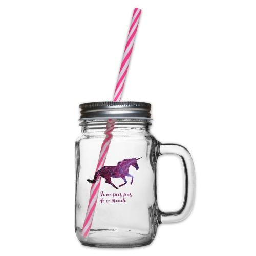 La licorne cosmique - Bocal à boisson