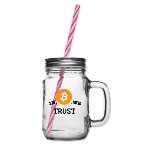 in b we trust cirkel - Drinkbeker met handvat en schroefdeksel