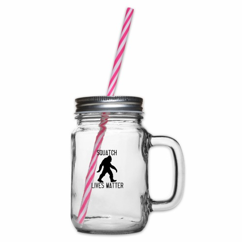Squatch Lives Matter - Glass jar with handle and screw cap