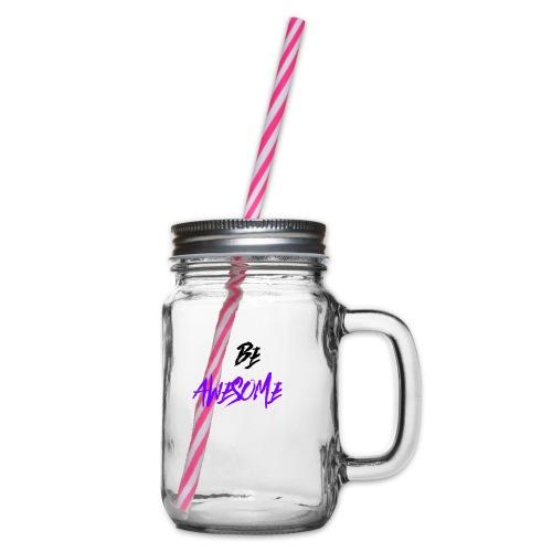 NNXZZZDXD - Glass jar with handle and screw cap