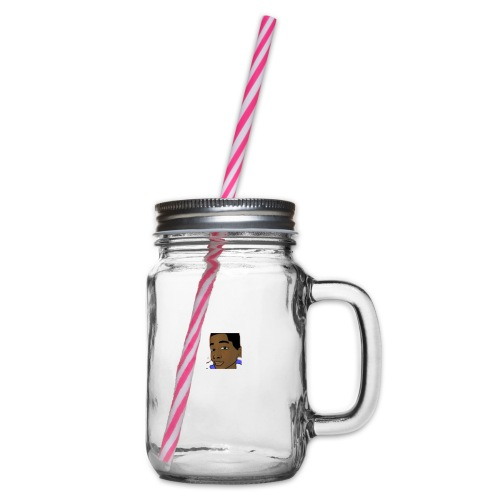 awesome merch - Glass jar with handle and screw cap
