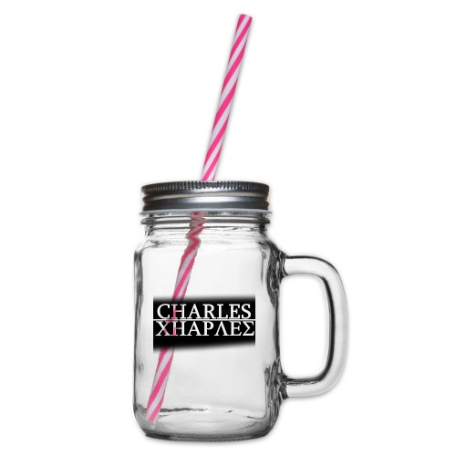 CHARLES CHARLES BLACK AND WHITE - Glass jar with handle and screw cap
