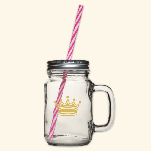 crown - Glass jar with handle and screw cap