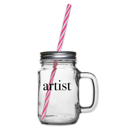 ARTIST - Glass jar with handle and screw cap