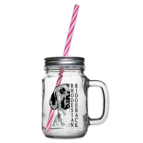 bono halber kopf schw - Henkelglas mit Schraubdeckel