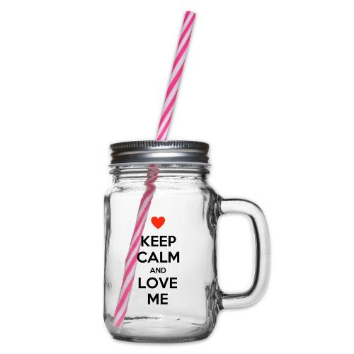 Keep calm and love me - Boccale con coperchio avvitabile