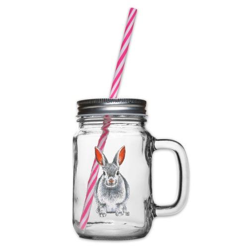 Hase - Henkelglas mit Schraubdeckel