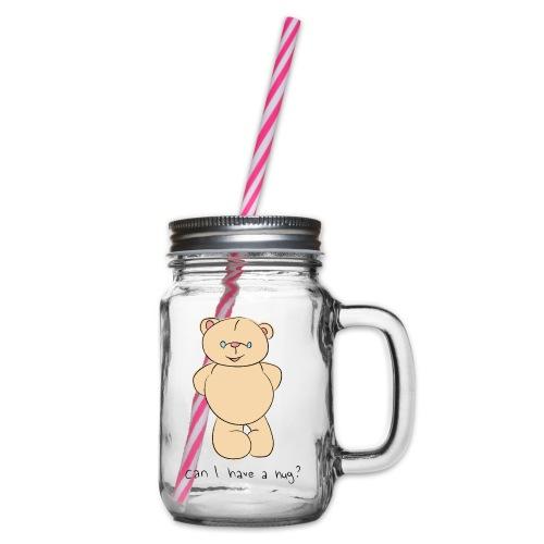 Bear hug - Glass jar with handle and screw cap