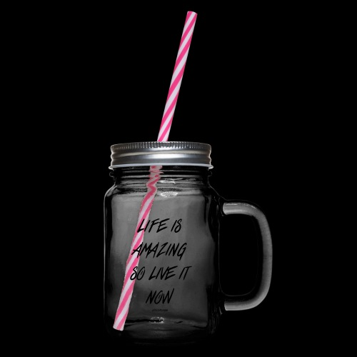 Life is amazing Samsung Case - Glass jar with handle and screw cap