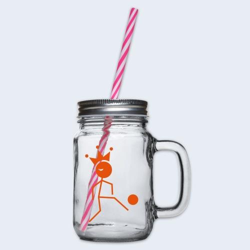 Voetbalkoning - Drinkbeker met handvat en schroefdeksel