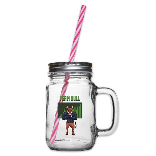 Team Bull - Henkelglas mit Schraubdeckel