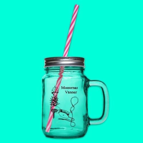 mossvanner - Glas med handtag och skruvlock