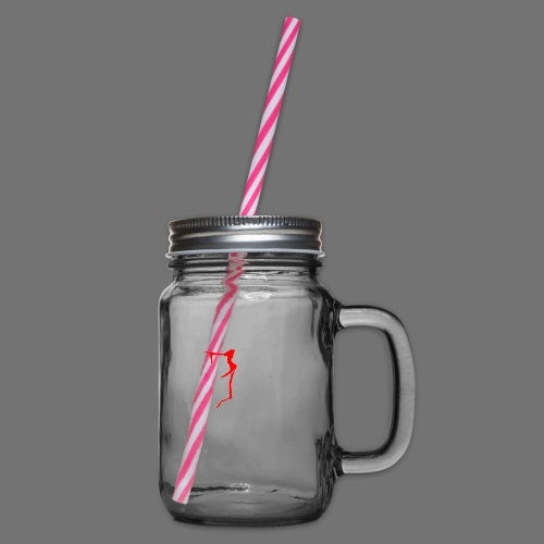 horrorcontest sixnineline - Glass jar with handle and screw cap