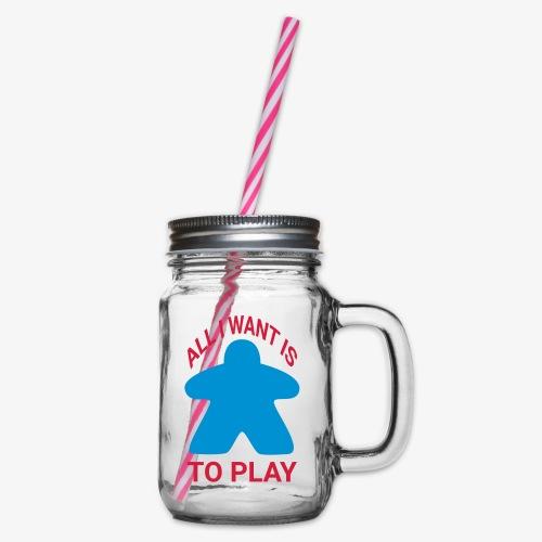 All I want is to play - Glass med hank og skrulokk
