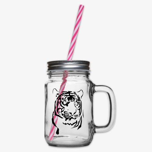 tiger - Słoik do picia z pokrywką