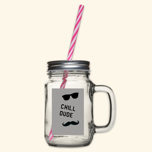 Cool tops - Glass jar with handle and screw cap