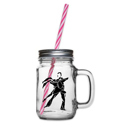 dancesilhouette - Glass jar with handle and screw cap