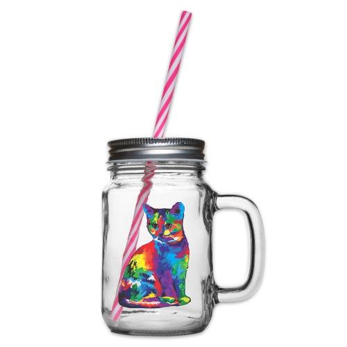 Katze - Henkelglas mit Schraubdeckel