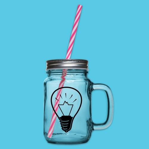 glühende Berge - Henkelglas mit Schraubdeckel