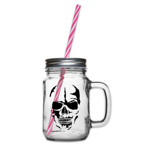 tete mort face skull dead 24 - Bocal à boisson