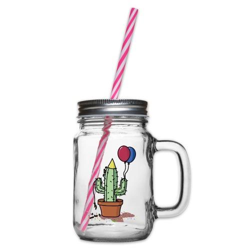 Flowercontest cactus party - Drinkbeker met handvat en schroefdeksel