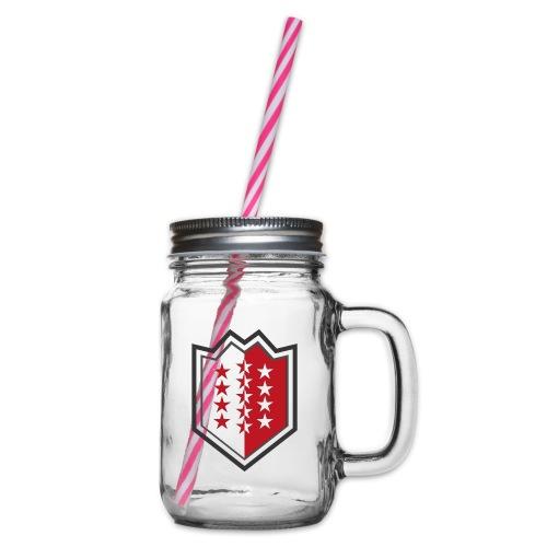 Bouclier moderne du Valais - Henkelglas mit Schraubdeckel