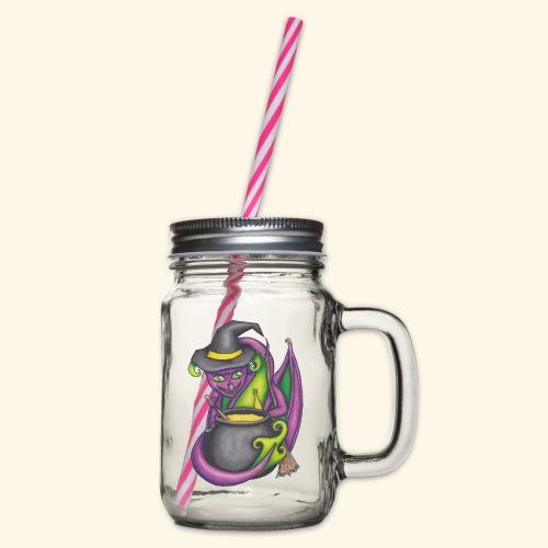 Häxdrake - Glas med handtag och skruvlock
