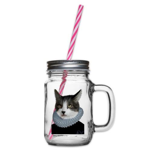 Noble Cat - Henkelglas mit Schraubdeckel