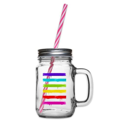 LGBT STRIPES - Henkelglas mit Schraubdeckel