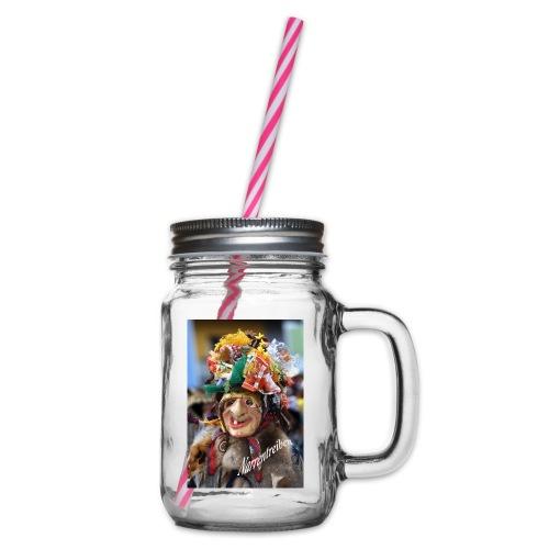Narrentreiben - Henkelglas mit Schraubdeckel