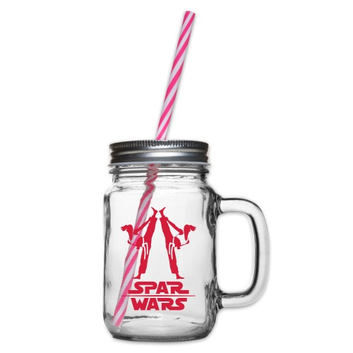 Girls Spar Wars - Glass jar with handle and screw cap