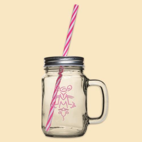 Gymmaus - Henkelglas mit Schraubdeckel