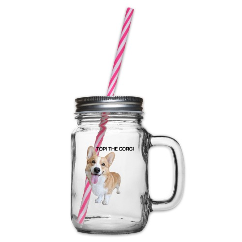 Silly Topi - Glass jar with handle and screw cap