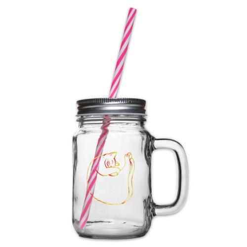 Schmusekatze - Henkelglas mit Schraubdeckel