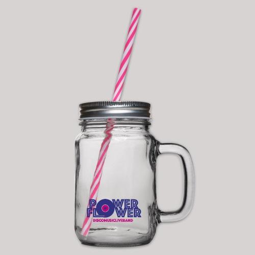 Logo PowerFlower colori - Boccale con coperchio avvitabile