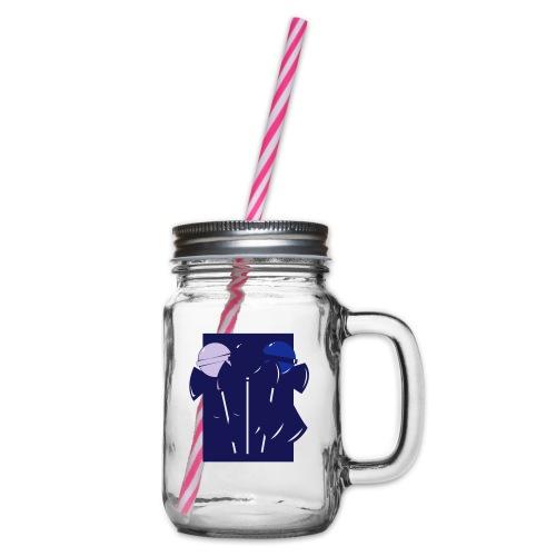 klubbor - Glas med handtag och skruvlock