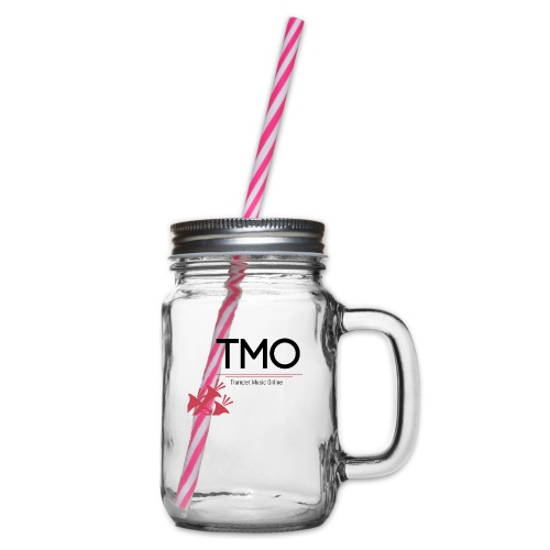 TMO Logo - Glass jar with handle and screw cap
