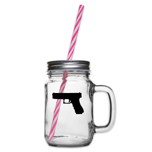 The Glock 2.0 - Glass jar with handle and screw cap