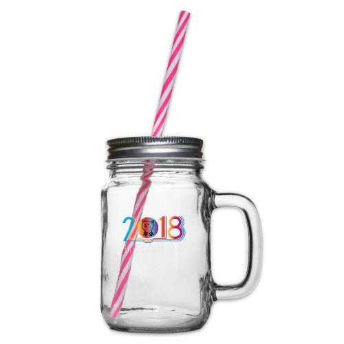 happynew 2018 - Henkelglas mit Schraubdeckel