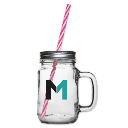 Logo M - Henkelglas mit Schraubdeckel