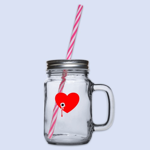 Cœur troué - Bocal à boisson