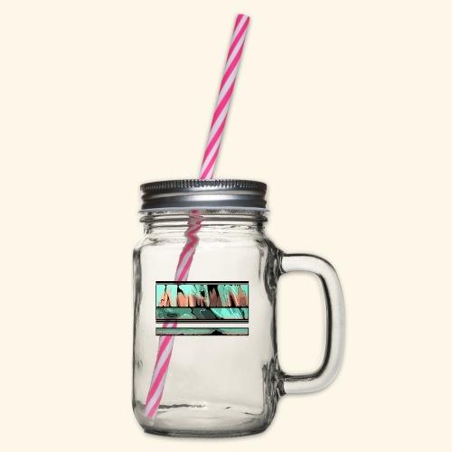 Slur-F06 - Glass jar with handle and screw cap